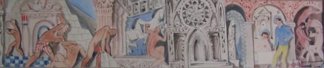Design for the Fresco of the MEMOSZ Centre