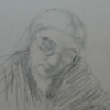 Portrait of an Old Lady Studying
