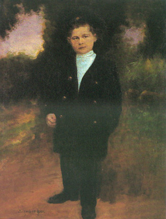 Standing Young  Boy