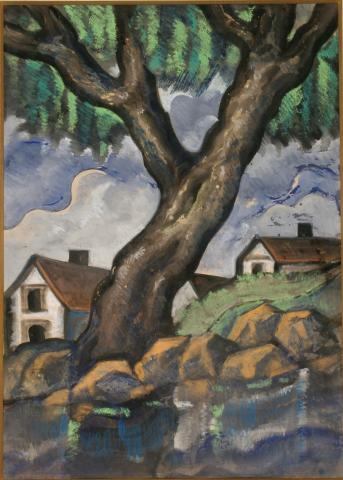 Landscape with Tree and Houses