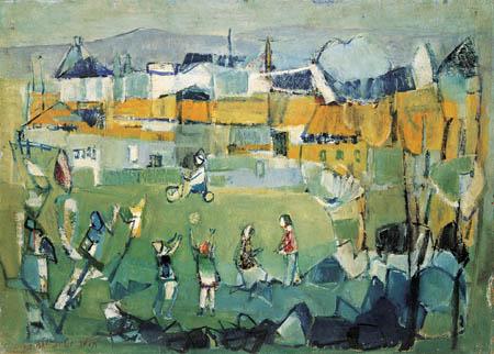 Children playing in the Kibbutz,1957