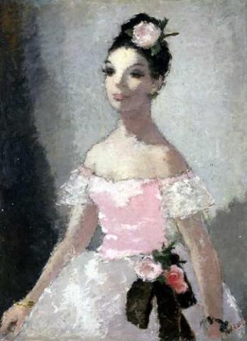 Ballerina in Pink Dress