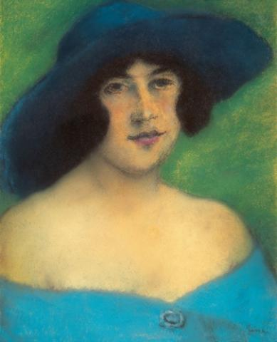 Portrait of Woman with a Hat
