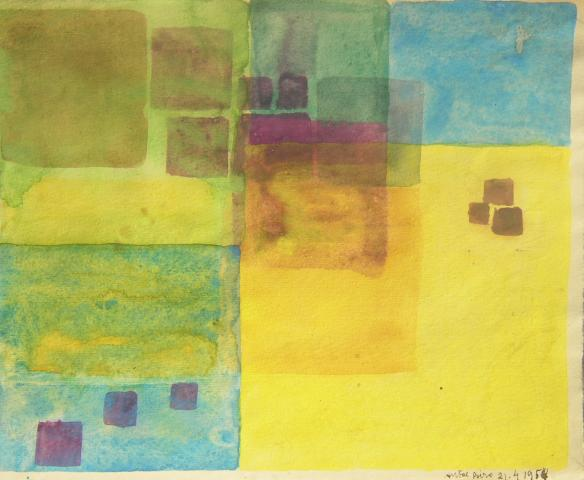 Composition-Cubes on Yellow