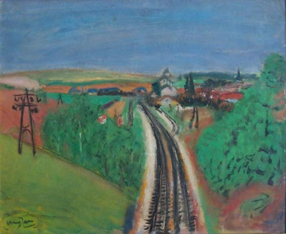 Landscape with Train-rail
