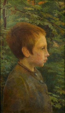 Profile of Boy in the Forest