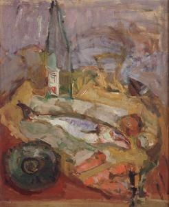 Still Life with Bottle and Fish