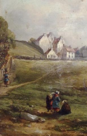 Landscape with Figuers
