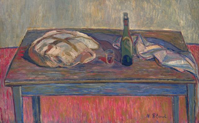 Still Life with Bread and Bottle