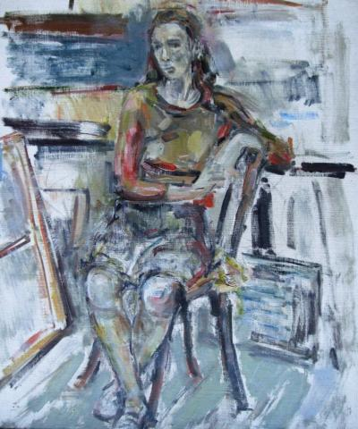 Seated Woman in the Studio