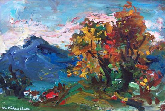 Landscape in Gruyere