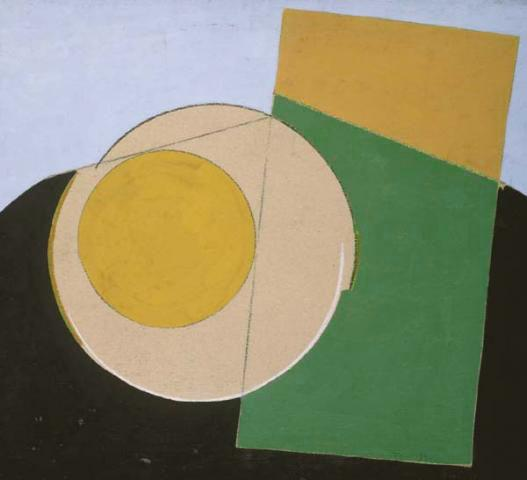 Composition with Yellow Circle