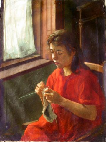 Woman Kniting