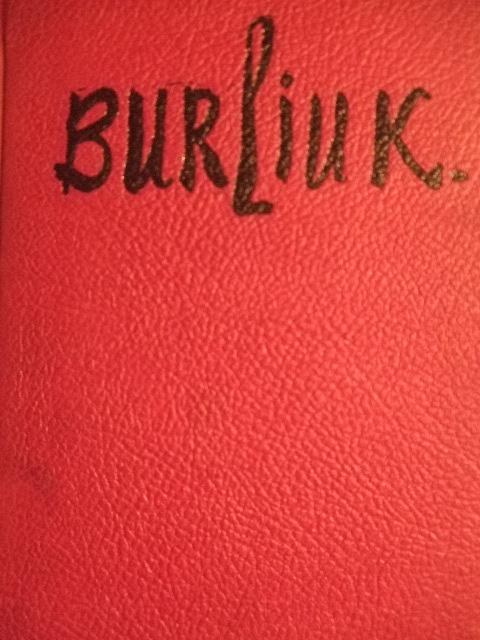 Burliuk book by Katherine S. Dreier