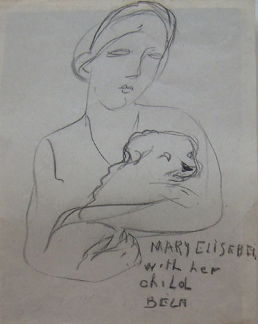 Mary Elisabeth with her Child