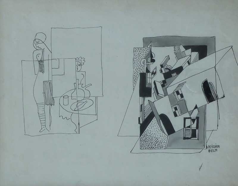 Constructivist Composition with Nude by a Table