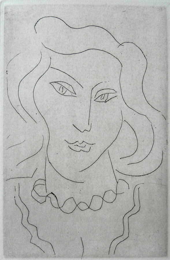 Face of a Young Woman with a Twisted Necklace