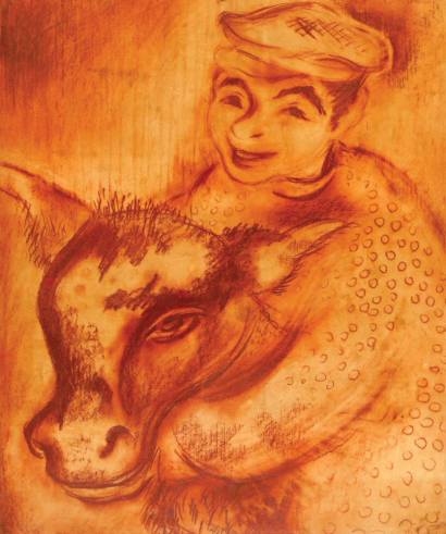 The Young Boy with Cow