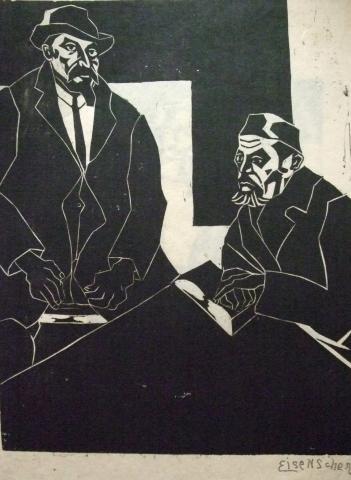 Jewish Men with Pray Books
