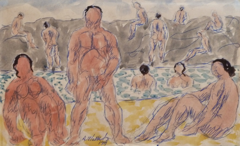 Bathers in the Lake