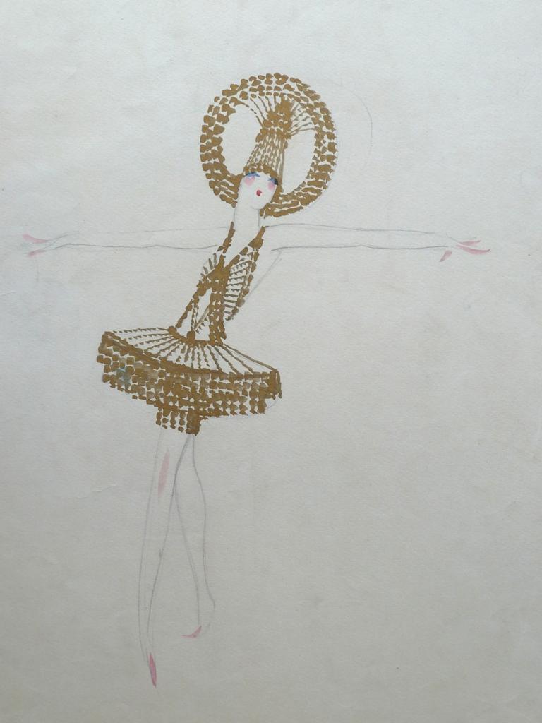 Dancer with Golden Hoop on Head