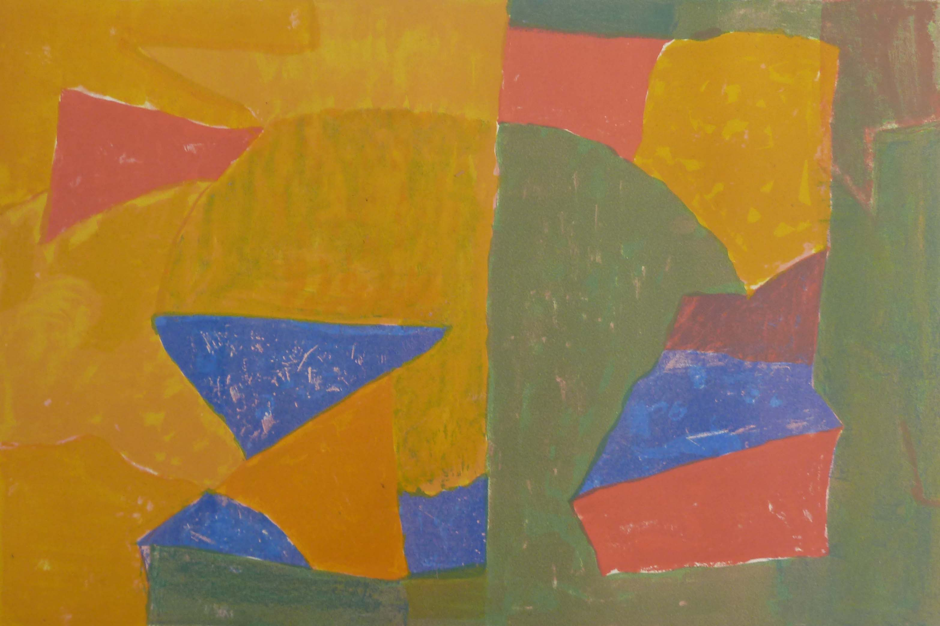 Composition in Yellow, Green, Blue, and Red