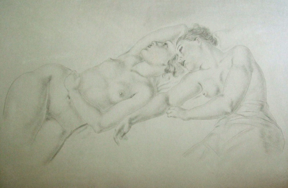 Two reclining nudes